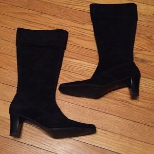Shoes - Black leather knee high boots